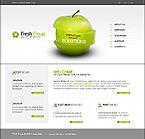 Бесплатный шаблон сайта на Flash 8